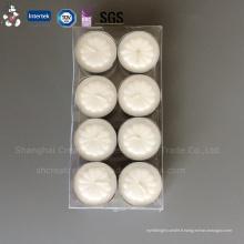 Bougie chauffe-plat décorative blanche tournesol imprimée (AT-7)