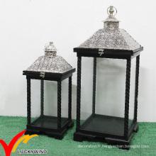 Lanterne métallique suspendue antique antique