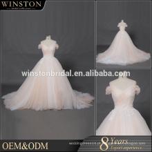 Guangzhou Factory Real Sample Últimos vestidos de casamento elegantes e longos de Alibaba