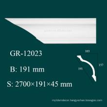 factory price environmental home design interior PU flexible crown molding