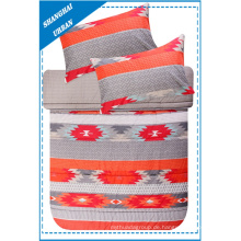 Roter Patchwork Totems Druck Polyester Bettbezug Set