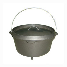 Outdoor camping preseasoned Coated Cast Iron Dutch Oven