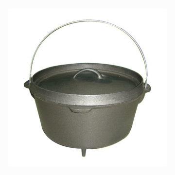 Outdoor camping preseasoned Coated Cast Iron Dutch Oven