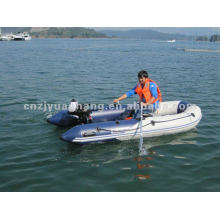 6 persons 0.9 pvc 3 layer fold optional floor color inflatable tender boat