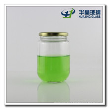 430ml Canned Food Glass Jar with Screw Metal Lid