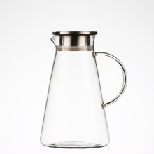 2LGlass Pitcher Spout Water Carafe Homemade Juice Iced Tea