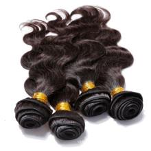 100% Девы перуанский 3 пучки волос