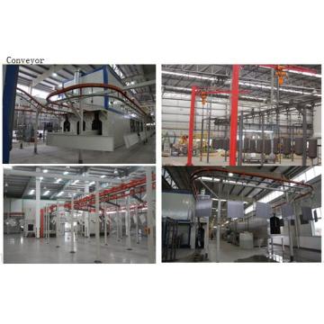 Linha de revestimento de pó de aço automático / semi-automático / manual