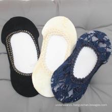 Summer cheap ultra thin floral invisible socks low cut boat socks women