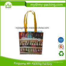 Saco de embalagem não tecido de compras BOPP laminado reutilizável
