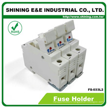 FS-033L2 Din Rail Type With Indicator 3 Pole 32A 380V AC DC Fuse Carrier