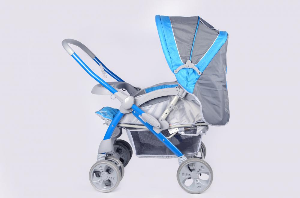 Baby Stroller with Hand Fold
