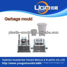 Moule en poubelle en plastique ménagé moule d'injection, usine de moules injectables