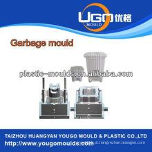 Molde de lixeira de plástico doméstico Molde de injeção, injete fábrica de moldes