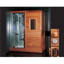 Sala finlandesa de sauna con ducha de vapor (DS201F3)