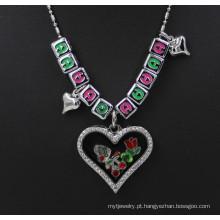 Personalizado prata memória cristal letter encantos vidro Locket pingente