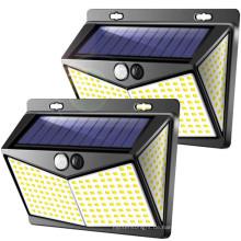 208LED Solar Wasserdichter Bewegungssensor Flutlicht