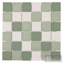 Green Ceramic Mosaic Floor Tiles