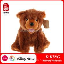 Ours brun fait sur commande de jouet de peluche de jouet d'animal d'ours brun