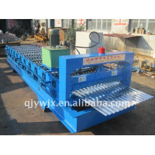 colored steel camber roof tile roll forming machine with cnc system