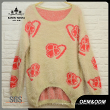 Women Fashion Curve Hem Loose Sweater