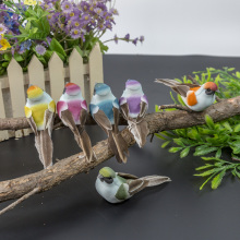 Bird craft with feathers