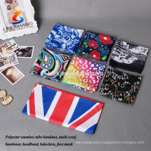 Multifunctional Headwear Seamless Scarf Tube Fabric Bandana