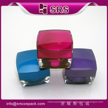 30g square acrylic jar and plastic jar cosmetic packaging ,new style 30g square acrylic cosmetic jar for cream