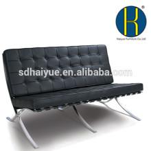 Современный Натуральная кожа / искусственная Барселона кресло с оттоманкой выполнен в Гуанчжоу завод