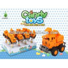 Jale los juguetes del caramelo del camión de la construcción