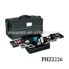 saco de beleza negra com 4 bandejas removíveis dentro fabricante