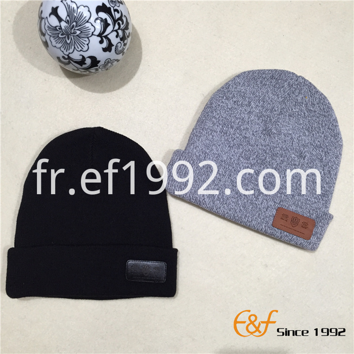 cotton knitted beanie