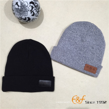 2017 New Design Cotton Man Dad Knitted Beanie Hat And Cap