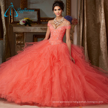 Tulle Satin Spaghetti Strap Quinceanera Dresses Ball Gown