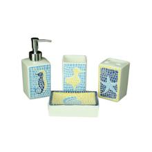 whole sale new design good quality bathroom soap set ceramic