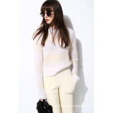 Neue Mohair Weiche Strick Pullover Pullover für Damen