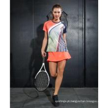Jérsei feito sob encomenda do Badminton da camisa da juventude para mulheres