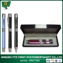 First TY402 Good Quality Colorful Brass Barrel Metal Pen Set For Gift Choice