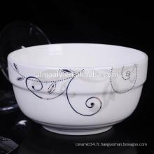 nouilles en porcelaine blanche bol bas prix bas