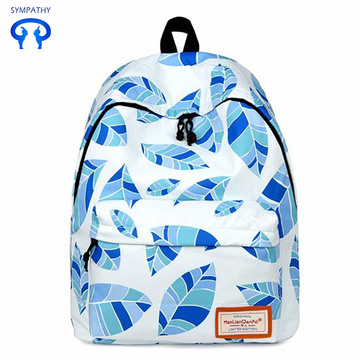 Printed backpack women's travel bags college style
