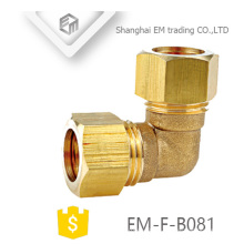 EM-F-B081 Forget brass compression elbow pipe fitting