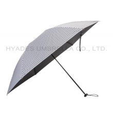 Ringan Houndstooth Periksa Wanita Folding Umbrella