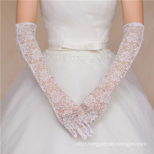 Lace appliques full-long high quality bridal wedding lace gloves