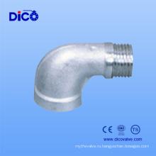 Нержавеющая сталь 304/316 Редукционный коленчатый фитинг 90 градусов