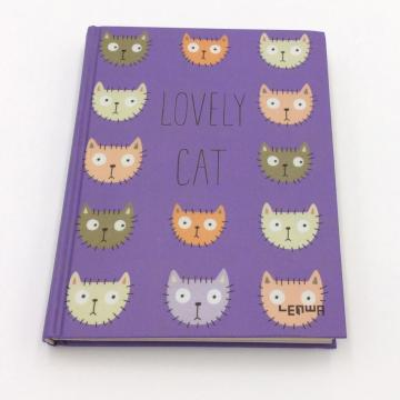 Paper journal notebook with cute graph