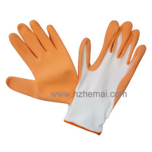 Nylon Gloves Coated Foam Latex Gardening Work Glove