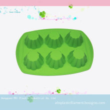 Green Six Cavity Silicone Cake Moulds For Making Cake Chocolate Bareware