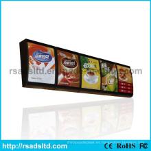 Caja de luz del tablero del menú del LED de la mejor venta para el restaurante