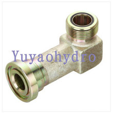 90° Flange Adapters Code 61 Flange to Orfs Tube Fittings
