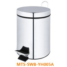 New Outdoor 5L Foot Pedal Stainless Steel Trash Can/ Dustbin/ Waste Bin